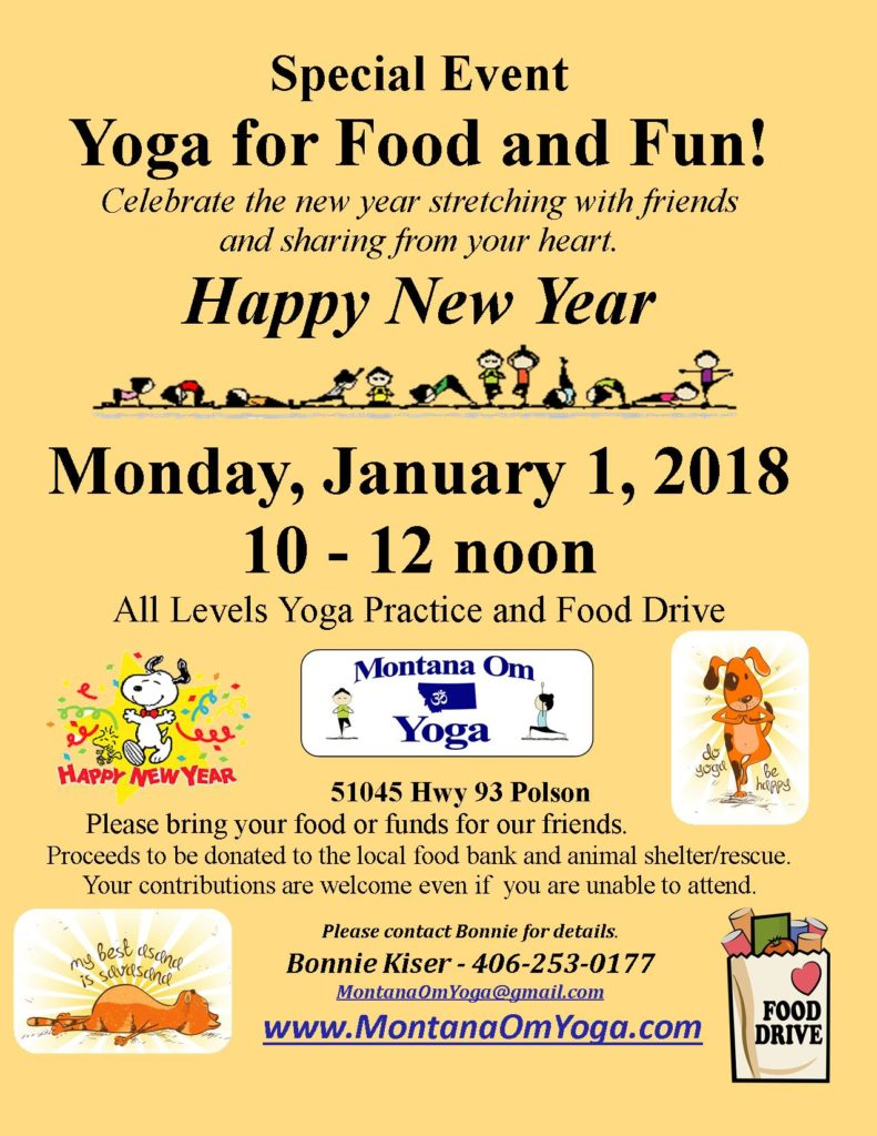 Yoga Practice and Food Drive