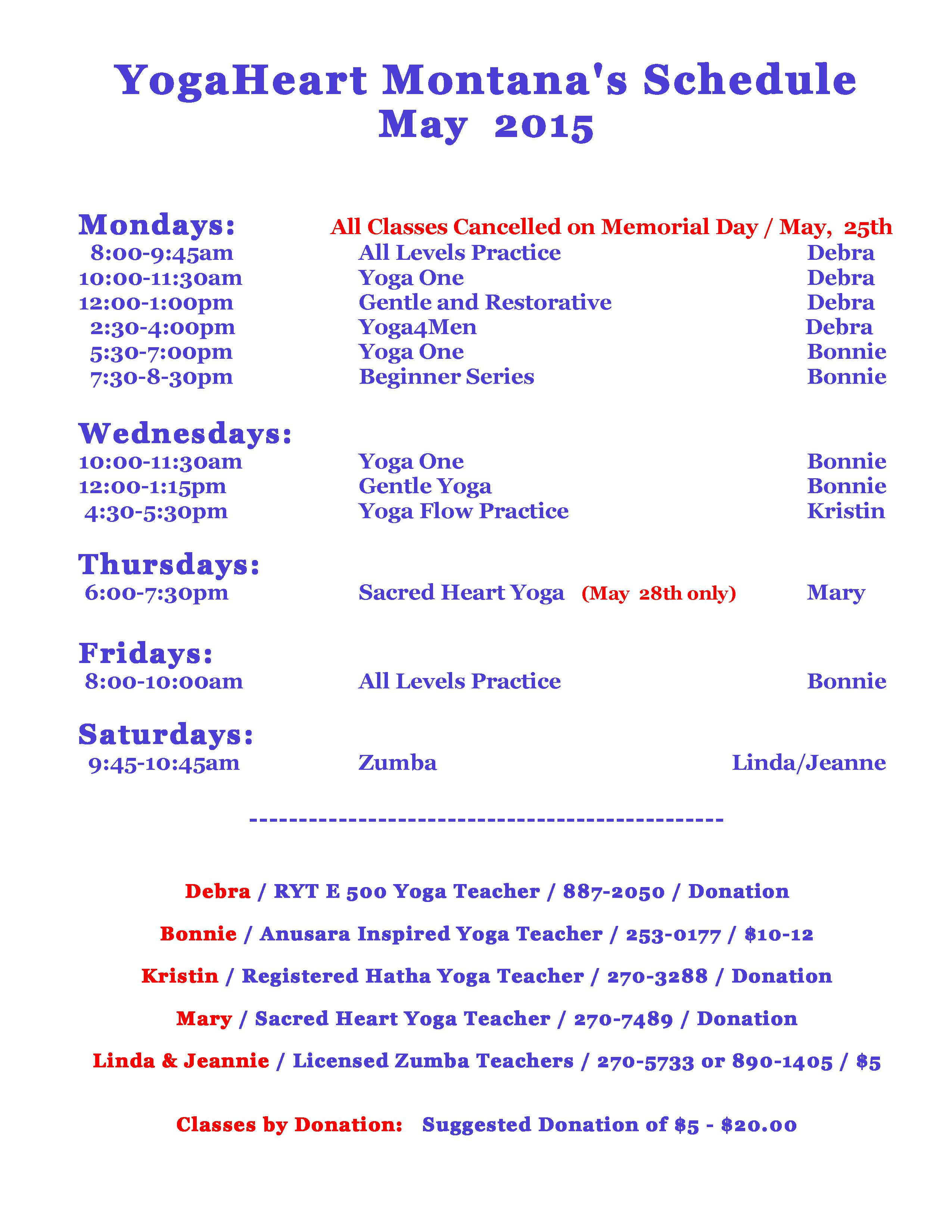 yogaheart calendar | montana om yoga