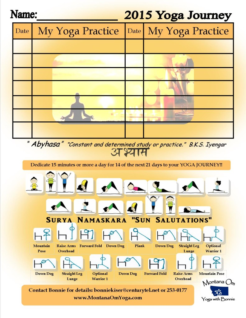 Yoga Journey Card Printable December 2015