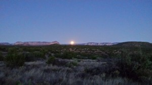 Full Moon Over Sedona