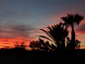 Sunset near Needles California
