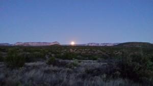 Full Moon Over Sedona