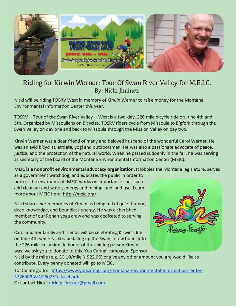 Kirwin fund raiser