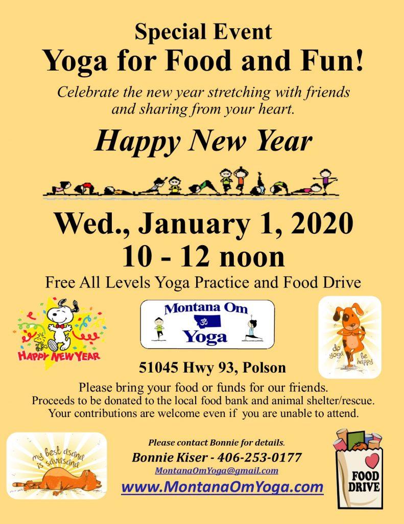 January 2020 Yoga and Food Drive